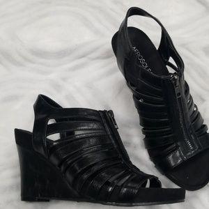 Aerosoles wedge top zip shoes 8.5